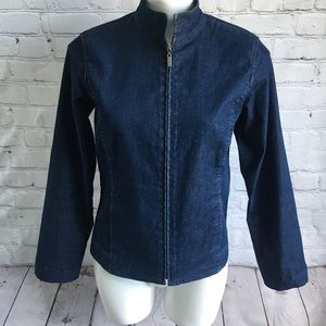 Eileen Fisher Denim Jacket Blazer Size XS